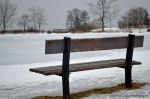 Toronto Beach Empty Bench