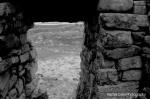 Dún Aenghus Aran Islands Ireland View through Stone Wall