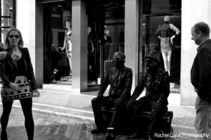 Dublin Ireland Men Pretending to be Statues