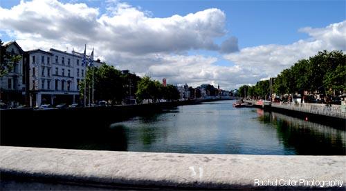 Ireland Dublin Bridge near the Liffey