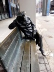 Toronto CBC Building Glenn Gould sitting on a bench