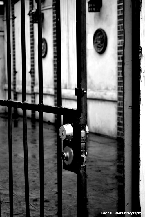 Black and White Photography Iron Door and Lock in Toronto