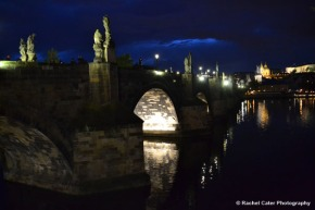Charles Bridge in Prague at Night Rachel Cater Photography