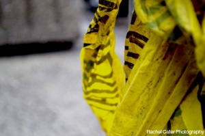 Close up photo of caution tape in Toronto