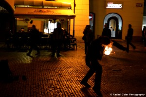 Fire Dancer in Prague 1 Rachel Cater Photography