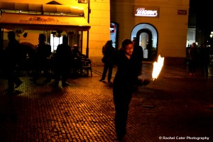 Fire Dancer in Prague 2 Rachel Cater Photography