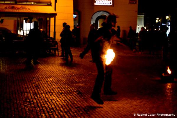 Fire Dancer in Prague Rachel Cater Photography