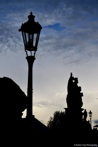 Statue on Charles Bridge silhouette Rachel Cater Photography