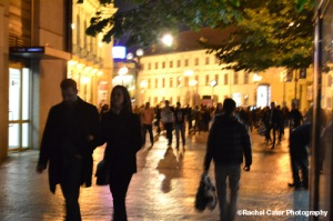 Tourists wandering around old Prague Rachel Cater Photography