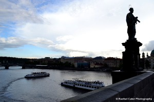 View from Charles Bridge during the day Rachel Cater Photography