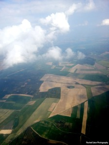 View from plane landing in Prague  Rachel Cater Photography