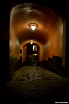alley in old town stockholm Rachel Cater Photography