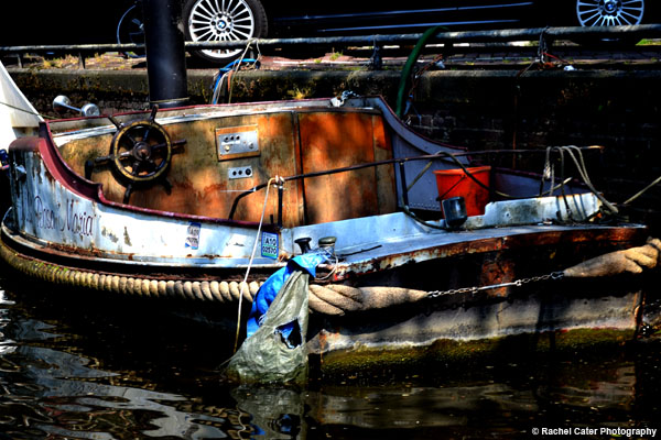 Boat in Amsterdam Canal Rachel Cater Photography