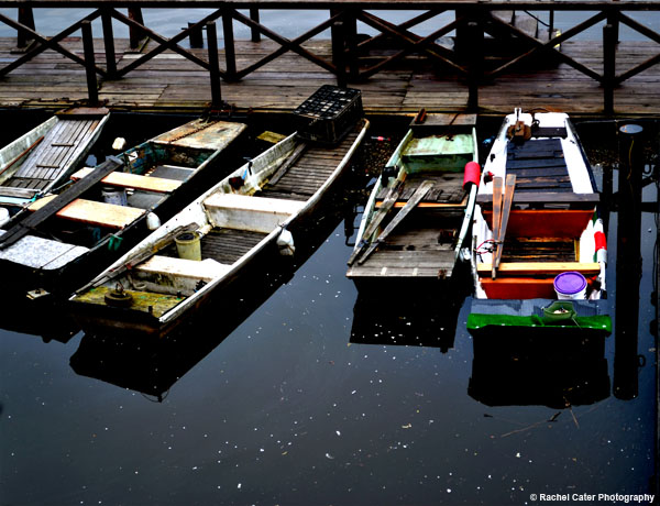 Docked Boats in Prague Rachel Cater Photography