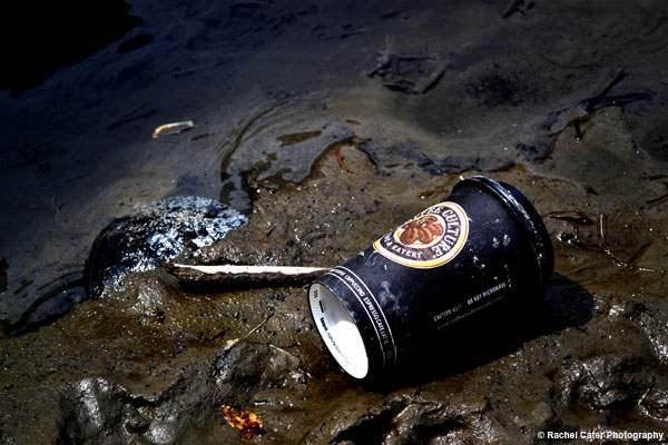 Garbage thrown by the river Rachel Cater Photography