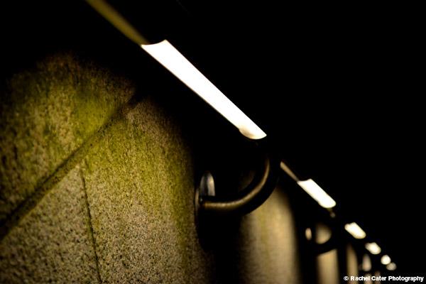 Lighted hand rail Rachel Cater Photography