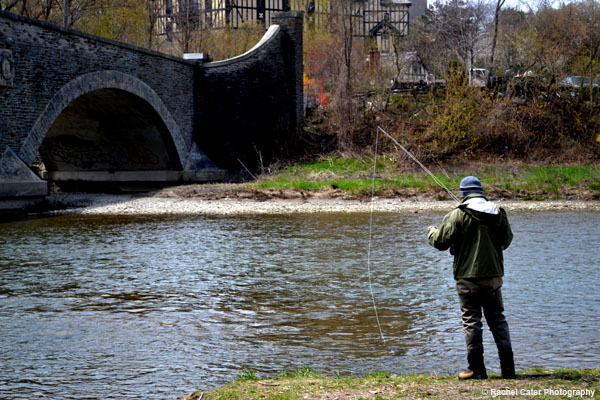 Man Fishing in Humber River Rachel Cater Photography
