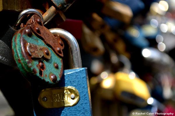 Rusty Bike Lock in Prague Rachel Cater Photography