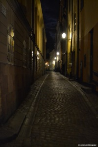 Street in old town stockholm Rachel Cater Photography