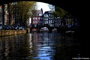 View from a canal Amsterdam Rachel Cater Photography
