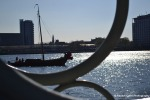 View through a handrail Amsterdam Rachel Cater Photography