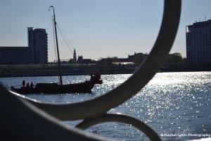 View through a handrail Amsterdam Rachel Cater Photography