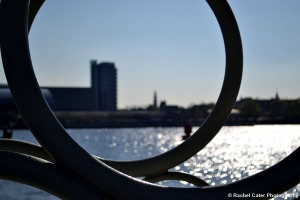 View through a handrail in  Amsterdam Rachel Cater Photography