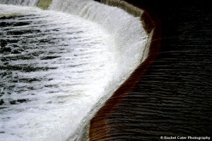 Water running off dam Rachel Cater Photography
