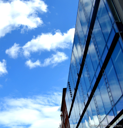 Clouds Reflected in building_Rachel Cater Photography