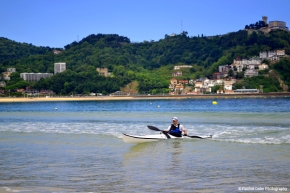 man kayaking in Spain Rachel Cater Photography