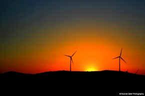Sunset in Spain with Windmills Rachel Cater Photography