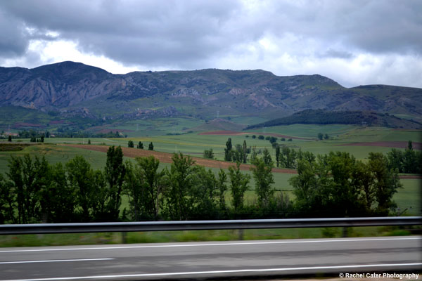 View from the Bus in Spain Rachel Cater Photography