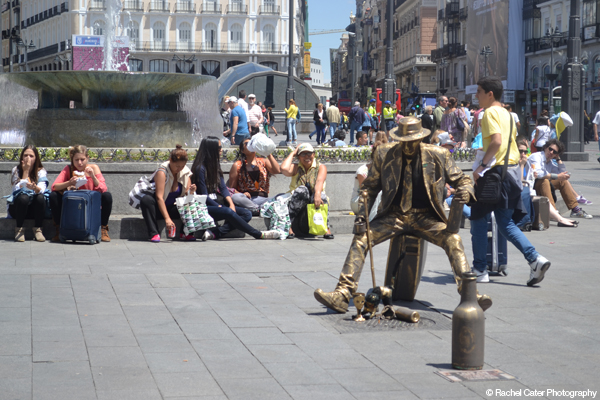 Madrid Metallic Man Rachel Cater Photography