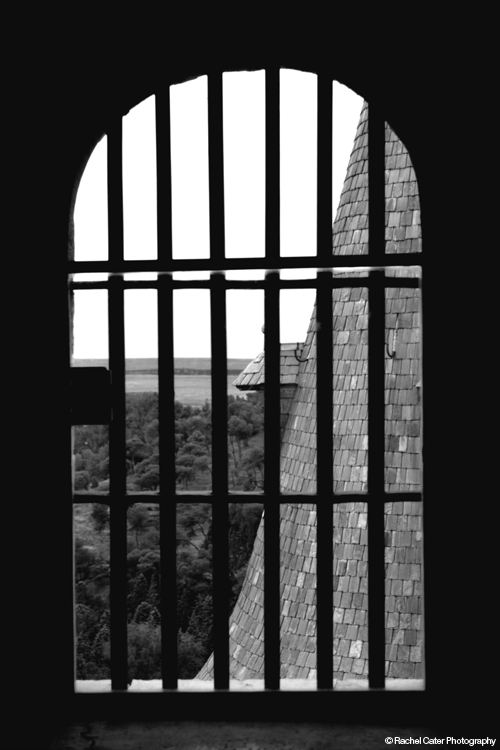 View from a castle window in Spain Rachel Cater Photography