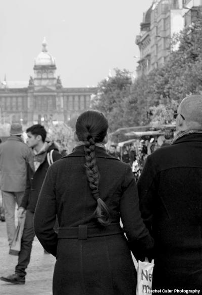 Couple walking in Prague Rachel Cater Photography