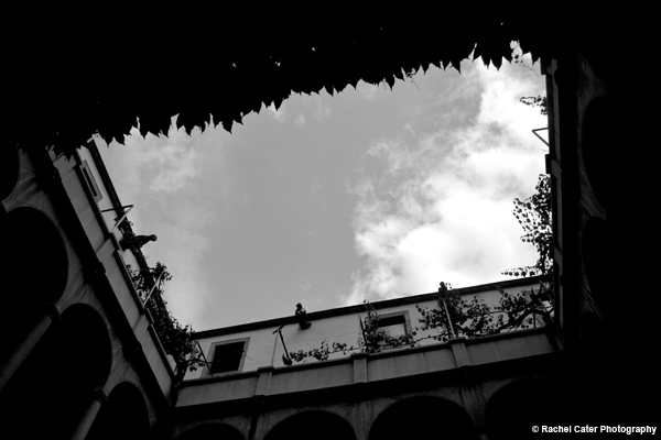View through a building roof Rachel Cater Photography