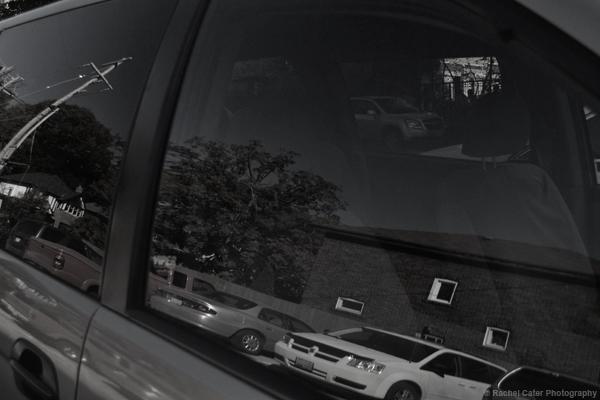 reflections in a van window Rachel Cater Photography