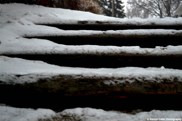 snow steps Rachel Cater Photography