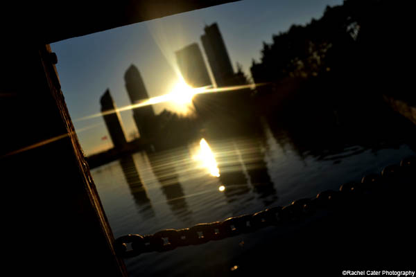 sunset through the pier rachel cater photography