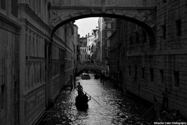 monochrome gondola ride rachel cater photography