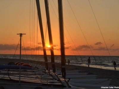 Cuban Boat at Sunset Rachel Cater Photography