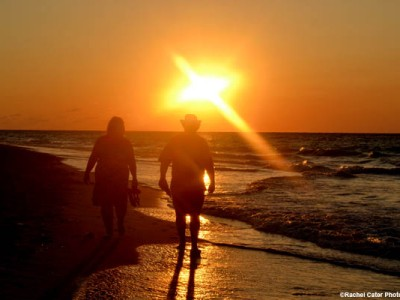 Couple's Romantic Beach Walk Varadero Cuba Rachel Cater Photography