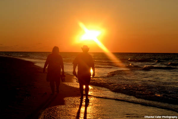 Couple's Romantic Beach Walk Varadero Cuba Rachel Cater Photography