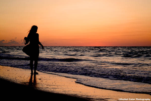 girl at sunset rachel cater photography
